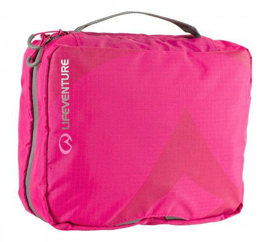 【LIFEVENTURE英國】TravelWashBag耐磨多功能盥洗包-L旅行盥洗包粉紅色64042