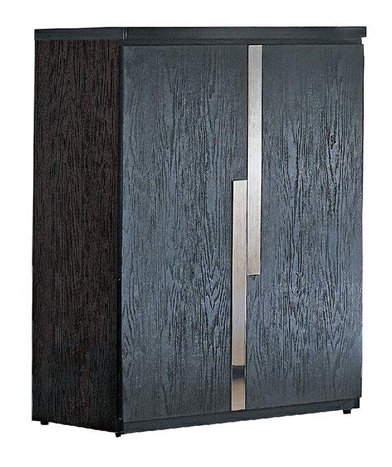 ~尚品 ~JF~277~2 艾克2.7尺黑色二門鞋櫃