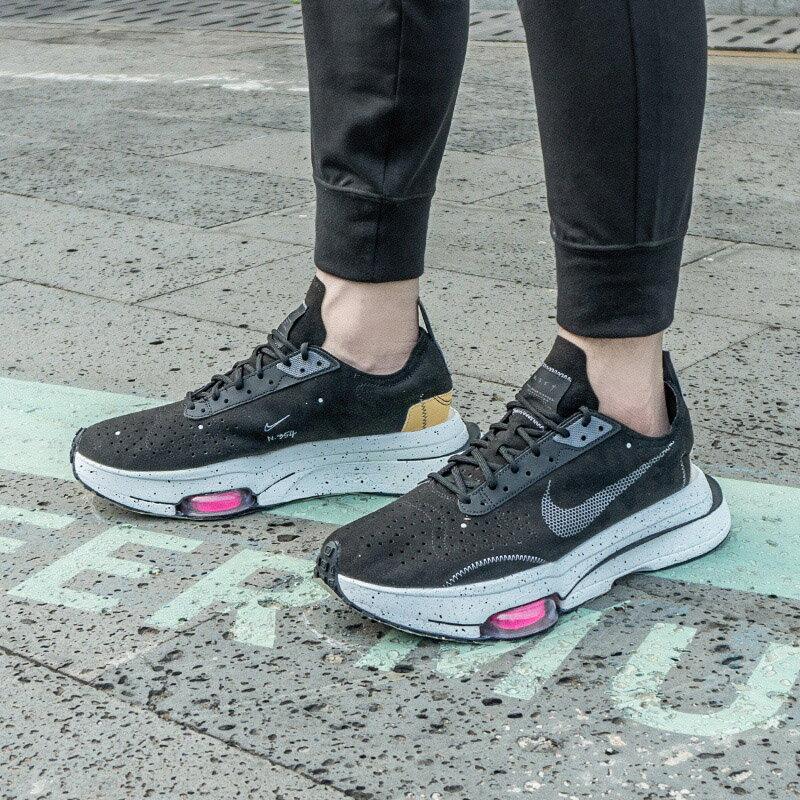 【日本海外代購】NIKE AIR ZOOM TYPE N.354 BLACK 黑潑墨 麂皮 時尚 解構 男女鞋 CJ2033-003