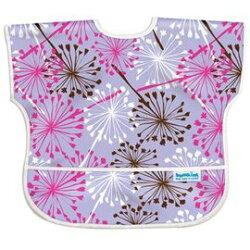 【美國Bumkins】兒童(1-3歲)短袖防水圍兜-浦公英 BKU-901【紫貝殼】