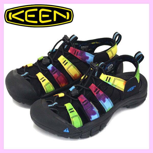 ├登山樂┤美國KEENNEWPORTRETRO女護趾涼鞋-黑彩色#1018822