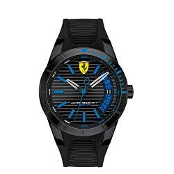 FERRARI 法拉利極簡狂速膠帶腕錶/44mm/0830427