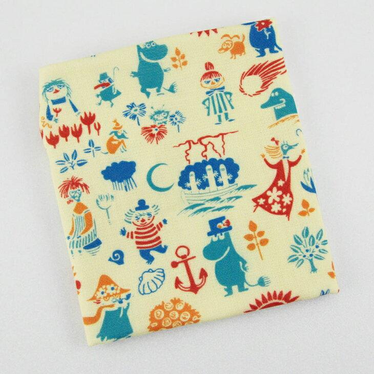 Moomin嚕嚕米正版授權 - 柔棉/厚棉 小方巾:【 歡樂谷的夏日 】