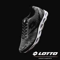 男性慢跑鞋到【巷子屋】義大利第一品牌-LOTTO樂得 男款編織第二代風動PLUS運動慢跑鞋 [6288] 灰黑就在巷子屋推薦男性慢跑鞋