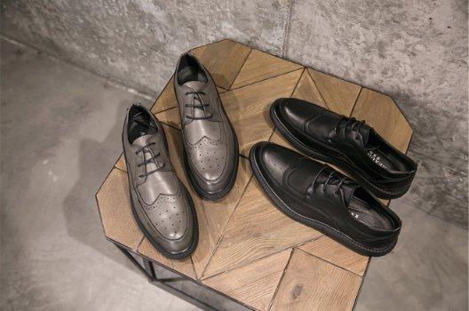 FINDSENSE Z1 日系 時尚 潮流 英倫 布洛格 休閒皮鞋 低幫男鞋 牛津鞋 厚底 皮鞋