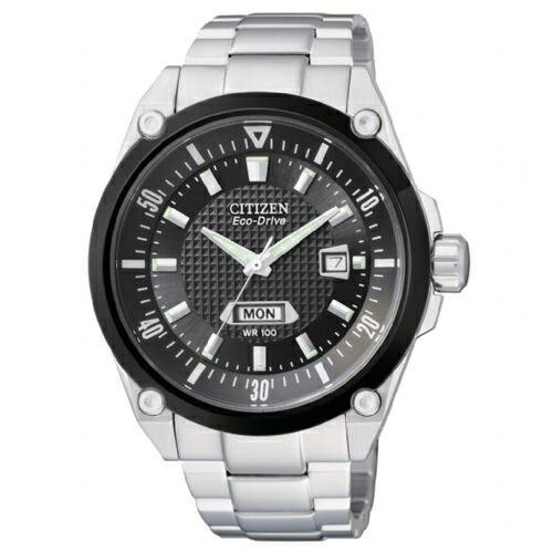CITIZEN星辰BM5005-69E星期大視窗光動能腕錶/黑面45mm