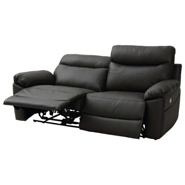 ◎半皮3人用電動可躺式沙發 JADE DBR NITORI宜得利家居