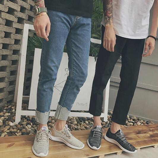 FINDSENSEMD日系流行時尚潮男網布透氣休閒鞋運動鞋跑鞋多功能鞋