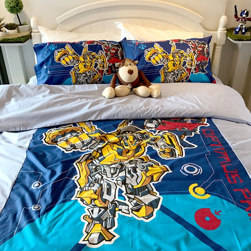 床包被套組 / 單人 【變形金剛-勇氣篇】混紡精梳棉,含一件枕套,戀家小舖,台灣製