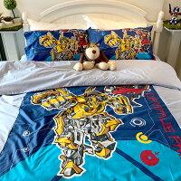 床包 / 雙人【變形金剛勇氣篇】混紡精梳棉,含兩件枕套,正版授權,戀家小舖,台灣製