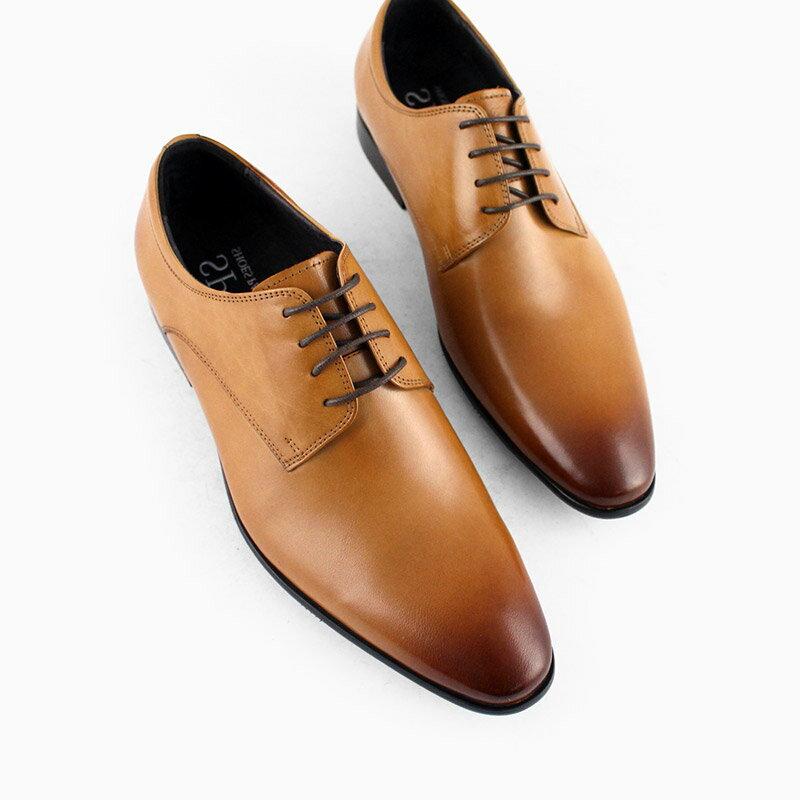 馬上出貨【F2-18018L】簡約綁帶真皮紳士鞋_Shoes Party 1