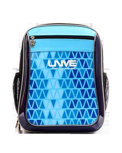 X射線 精緻禮品:X射線【C3261N】UnMe幾何漸層書包(粉藍)3261台灣製造,開學必備護脊書包書包後背包背包便當盒袋書包雨衣補習袋輕量書包拉桿書包