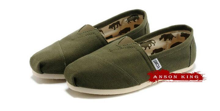 [男款] 國外代購TOMS 帆布鞋/懶人鞋/休閒鞋/至尊鞋 帆布系列  軍綠 2