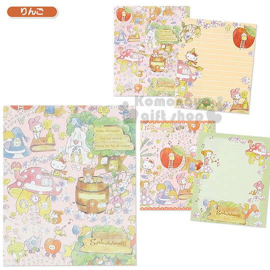 〔小禮堂〕Sanrio大集合 日製便條本《粉.魔法森林》Sanrio55週年紀念系列第二彈