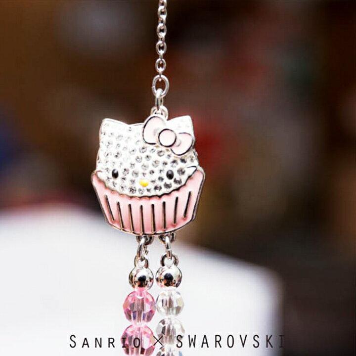 Sanrio × SWAROVSKI ▼施華洛世奇高級水鑽蛋糕系列HELLO KITTY甜美水晶項鍊 1120602