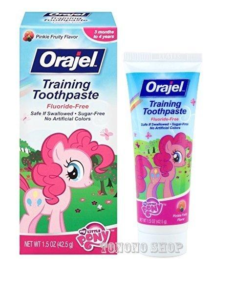 【彤彤小舖】Orajel Baby 幼兒學習牙膏 -無氟 無糖 42.5g 湯瑪士火車 芝麻街艾蒙 粉紅小馬