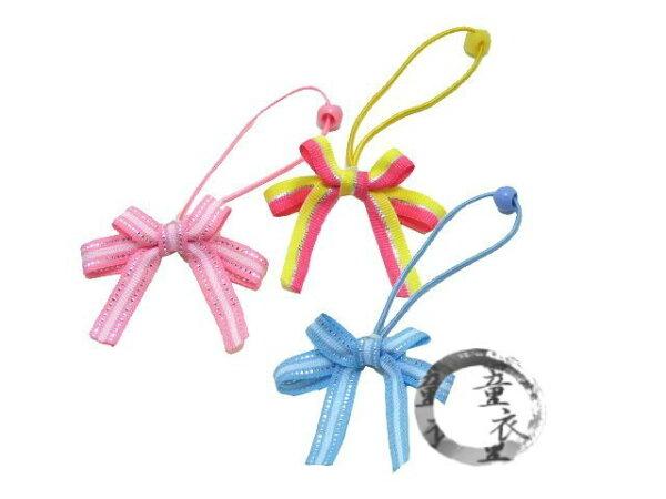 童衣圓【P023】P23金絲蝴蝶結髮束手工製可愛金絲線兒童髮繩髮飾雙蝴蝶結