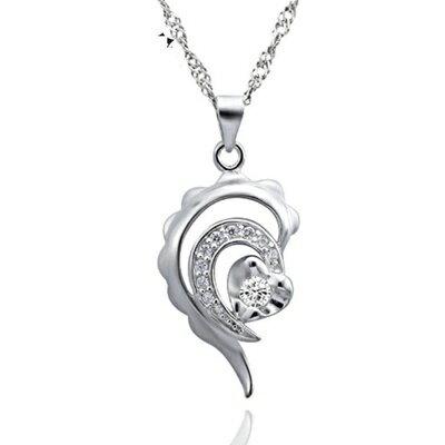 925純銀項鍊 鑲鑽吊墜~ 簡約大方 母親節情人節生日 女飾品73dk431~ ~~米蘭