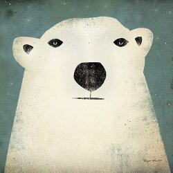 兒童房 熊 白熊  壁畫 訂製壁畫  e22287
