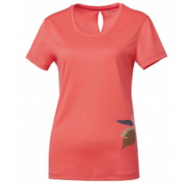 《台南悠活運動家》WILDLAND61625女咖啡紗抗菌抗UV長版上衣粉橘
