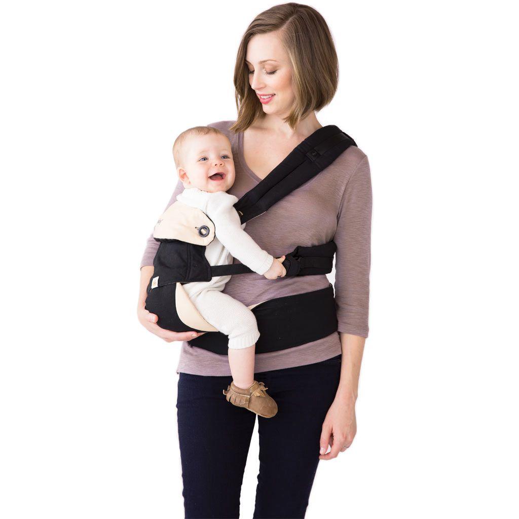 美國【Ergo baby】360度 嬰兒揹帶-黑駝色 4