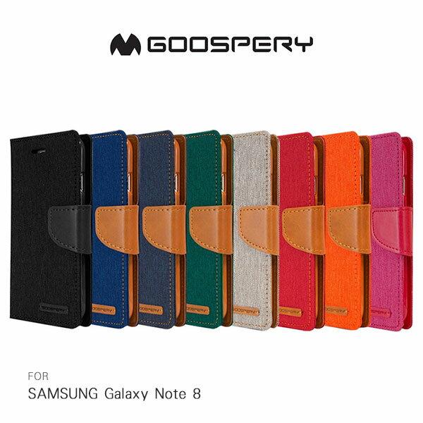 強尼拍賣~GOOSPERYSAMSUNGGalaxyNote8CANVAS網布皮套磁扣插卡側翻皮套保護套手機套