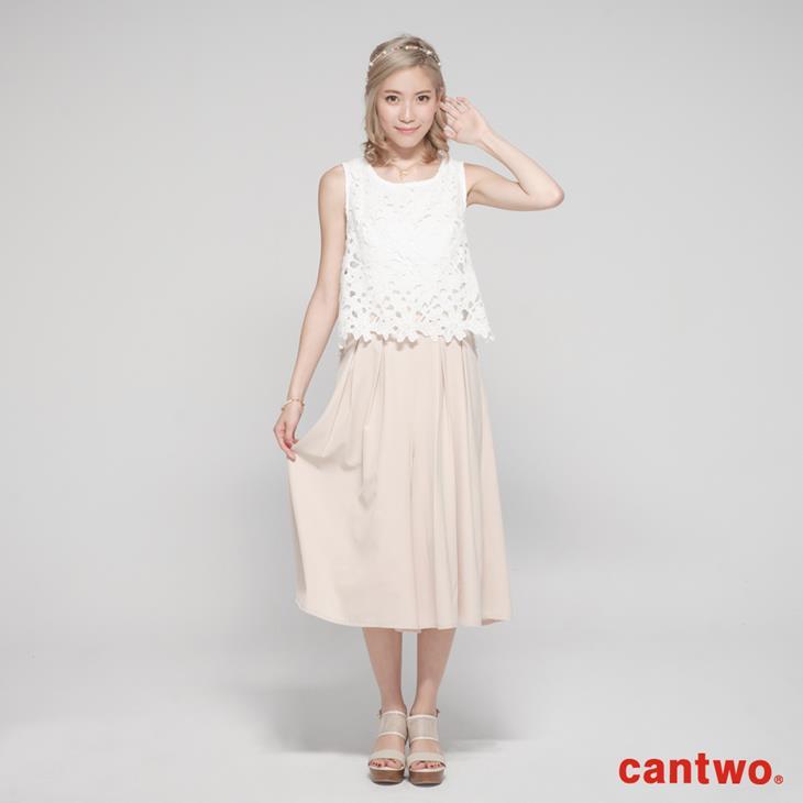 cantwo鏤空蕾絲無袖連身褲(共二色) 0