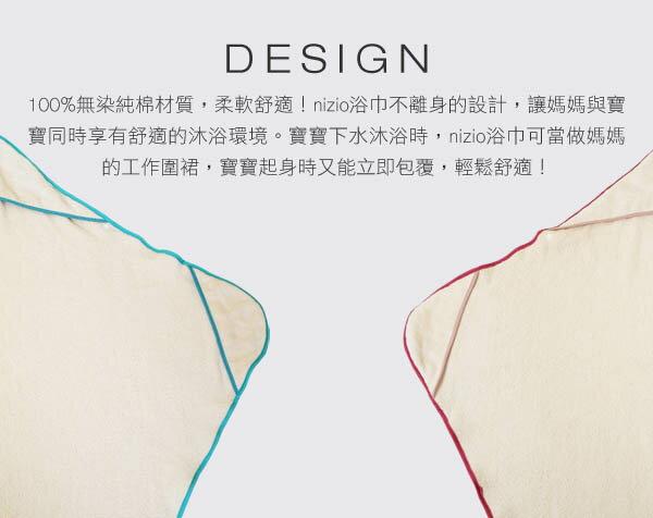 ollobaby瓦吉司 - Nizio - 多功能成長型浴巾 (藍綠點點) 8