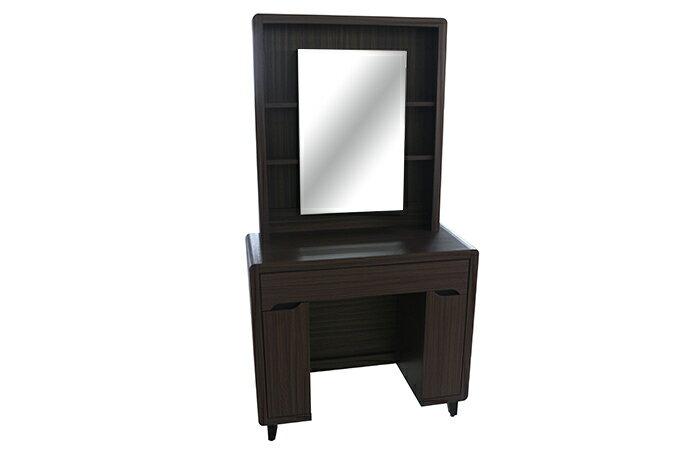 【尚品傢俱】924-04 蘿莉塔 胡桃色化妝鏡台(含椅)/套房傢俱組/臥室櫥櫃床組/出租屋床櫃組
