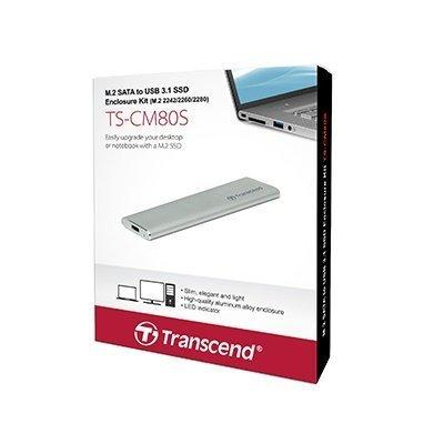 【新風尚潮流】 創見 M.2 2242 2260 2280 SSD 固態硬碟 專用外接盒 套件 TS-CM80S
