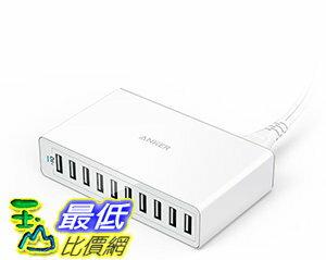 [106美國直購] Anker PowerPort 10(60W 10-Port USB Charging Hub)Multi-Port USB Wall Charger 集線器 充電器