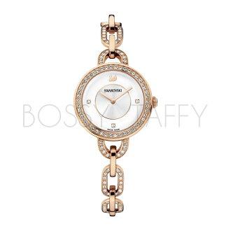 SWAROVSKI 施華洛世奇 Aila 鍊戀時尚水鑽仕女腕錶 1094379 玫瑰金錶盤白