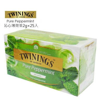 <br/><br/>  英國【TWININGS 唐寧】沁心薄荷茶 Pure Peppermint 2g*25入/盒★1月限定全店699免運<br/><br/>