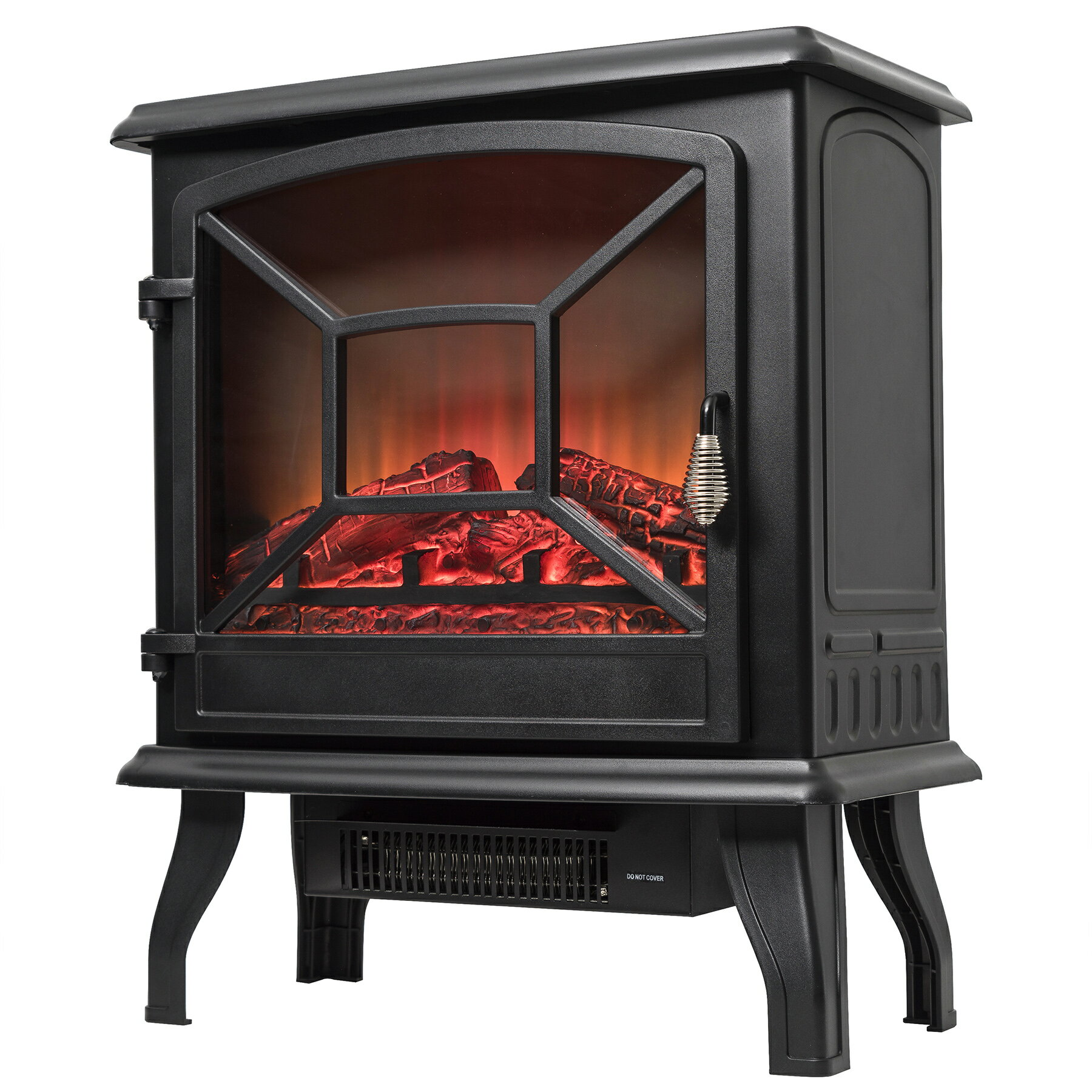 "AKDY 20"" Freestanding Portable 2 Setting Level Electric Fireplace Stove Heater w/ Log Bed 3"