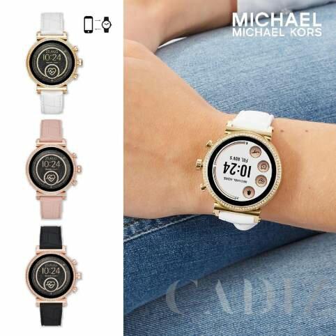 預購 美國正品 Michael Kors Access Runway 三色水鑽智能追蹤皮革帶錶 MKT5067 MKT5068 MKT5069