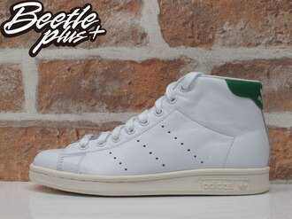 BEETLE ADIDAS ORIGINALS STAN SMITH MID 白綠 愛迪達 復古 奶油底 B24538
