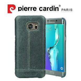 [ Samsung S7 ] Pierre Cardin法國皮爾卡登高級牛皮品牌經典不敗款真皮手機殼/保護殼 灰色