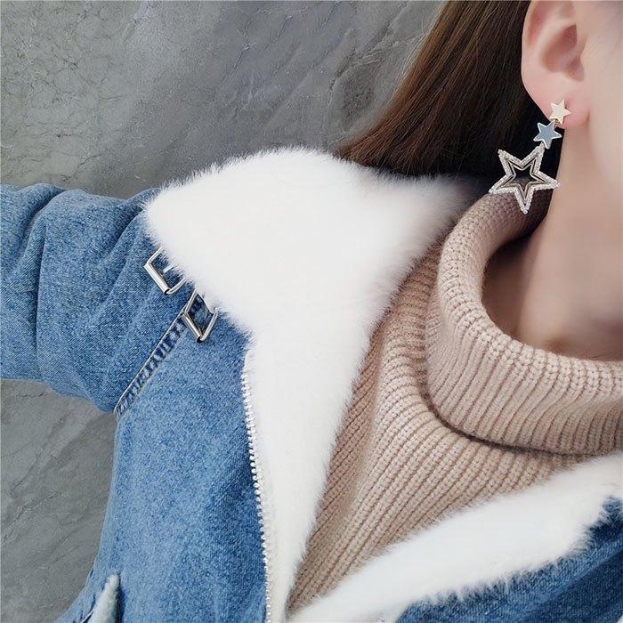 耳環 鏤空 星星 吊墜 鑲鑽 拼接 甜美 氣質 耳釘 耳環【DD1812038】 BOBI  03 / 07 2