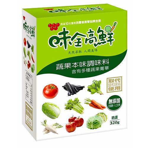 味全高鮮蔬果本味調味料320g【愛買】