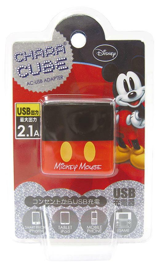 日本原裝 迪士尼Disney系列造型  Mickey米奇 USB充電器 豆腐頭