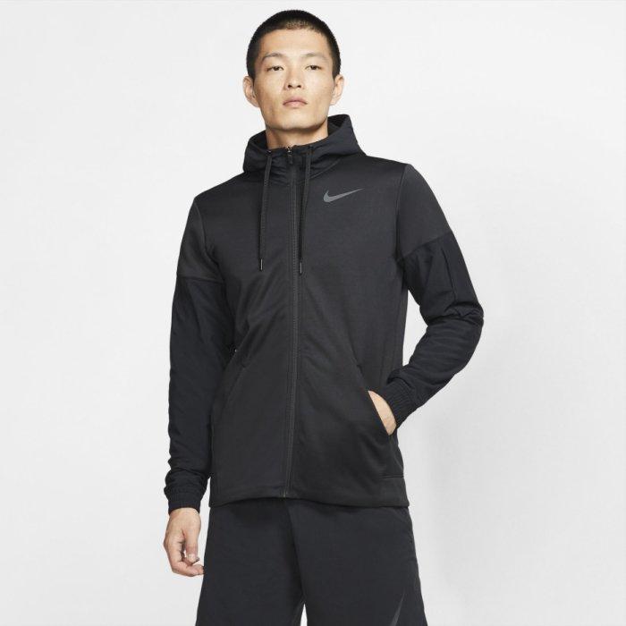 Nike THERMA Dri-FIT 男裝 連帽外套 全拉鍊 速乾 刷毛 黑【運動世界】BV6310-010