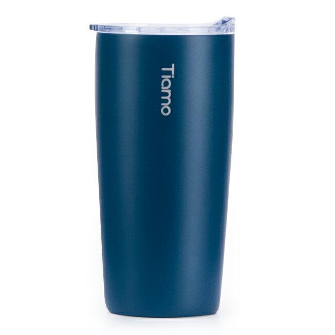 金時代書香咖啡 Tiamo 真空陶瓷隨手杯 360ml 藍 HE5160BL