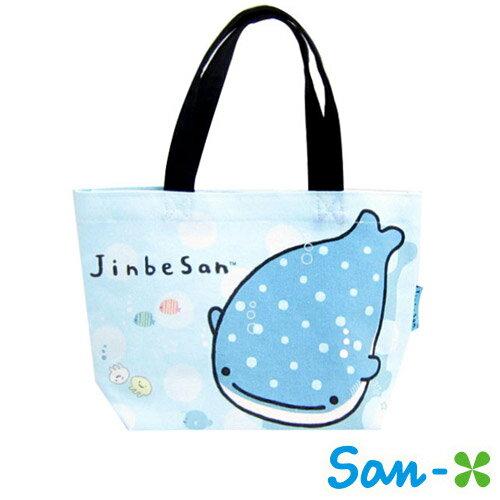 sightme看過來購物城:B款【日本正版】San-X甚平君鯊甚平鯊摺疊手提袋便當袋提袋甚平君-423919