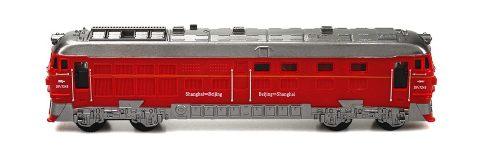 台灣【小小家】磨輪聲光復古小火車1710-1(紅色)