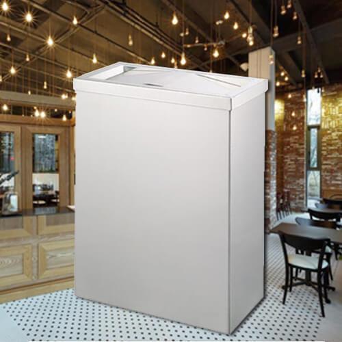 【企隆 圍欄 飯店用品】 煙灰 垃圾桶 置物 收納 回收 C28A 紙巾桶附上框翻蓋式搖板