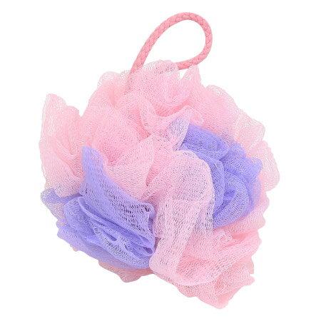 沐浴球 柔彩綿綿 粉紫