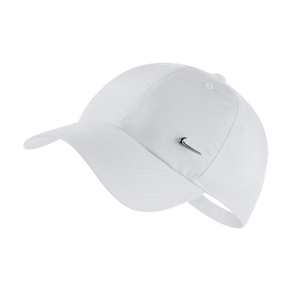 【NIKE】U NK H86 CAP NK METAL SWOOSH 配件 休閒 鴨舌帽 素面 白 金屬 帽子 -943092100★滿666APP下單折50代碼:20May50