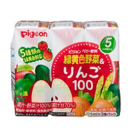 【淘氣寶寶】貝親黃綠色蔬菜蘋果汁P13777(125毫升×3入組)【適合年齡:5個月以上】