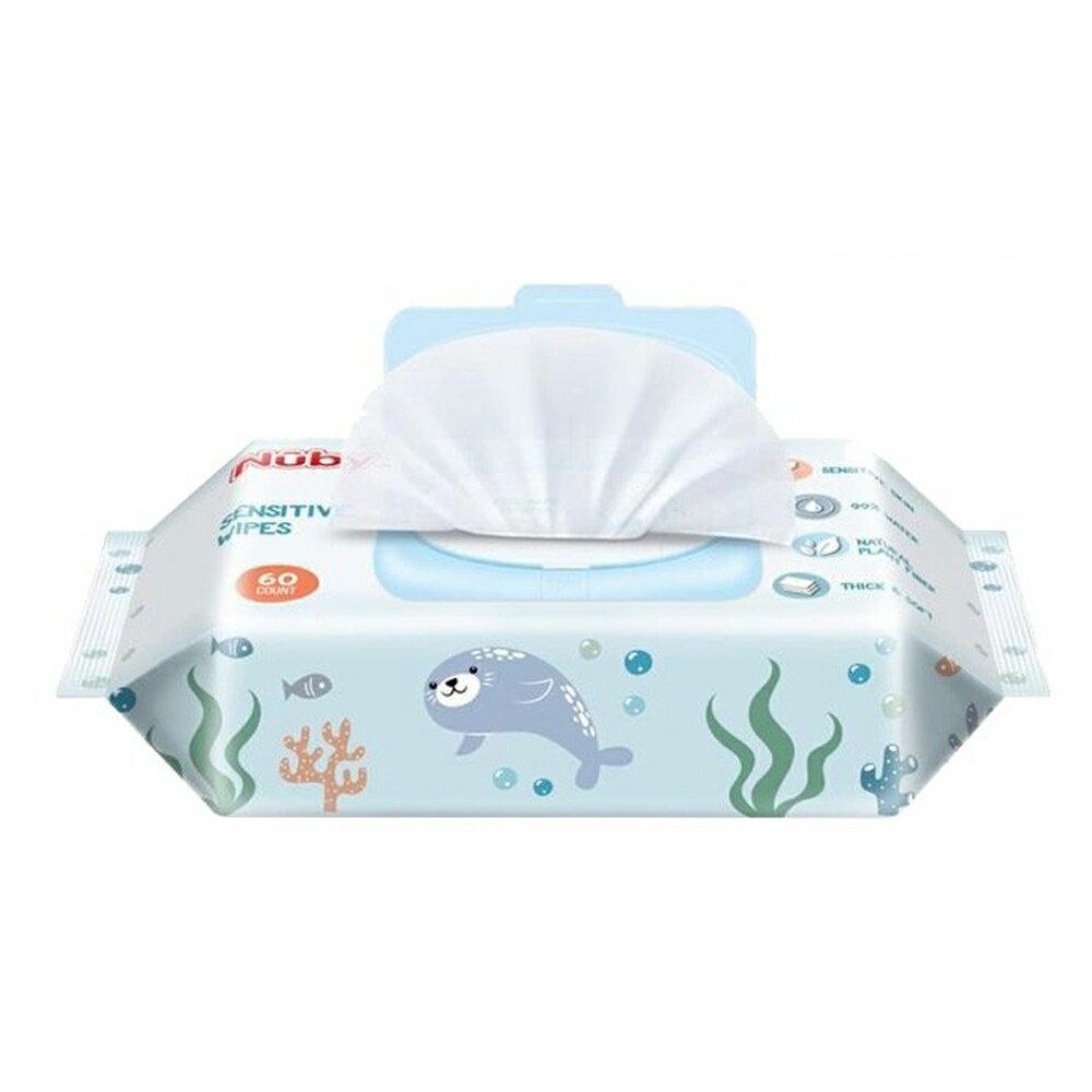 Nuby 海洋濕巾 極厚柔濕巾 60抽 濕巾含上蓋 4包、16包