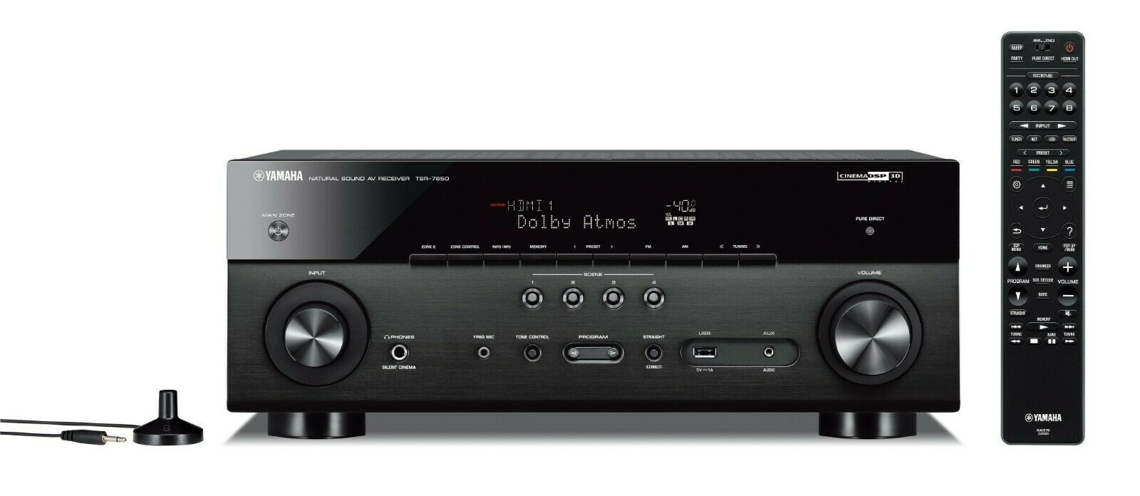 Yamaha TSR-7850R 7.2 ch 4K Atmos DTS Receiver - Factory Reconditioned